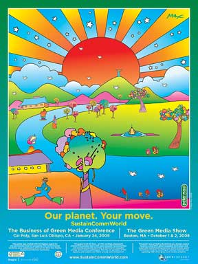 Peter Max Sustain World Poster