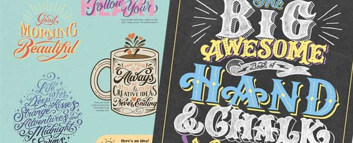 type, fonts, calligraphy samples