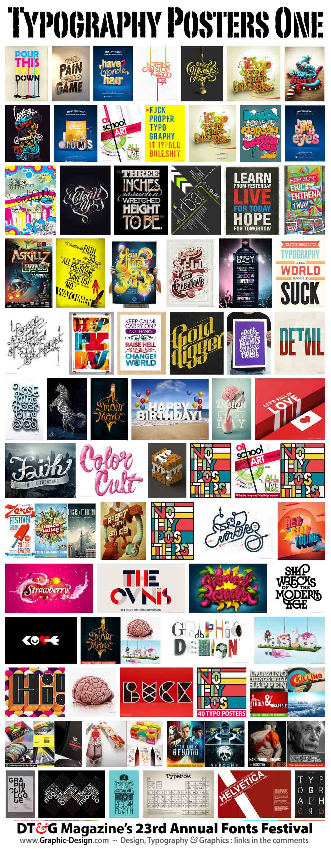 typography posters collection #1