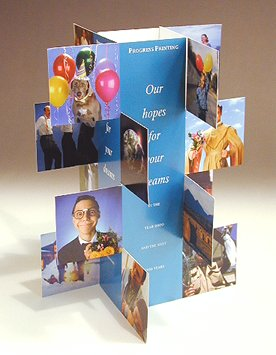 Photo tent display you can make with your own photos