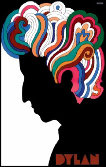Famous poster of Bob Dylan by Milton Glaser