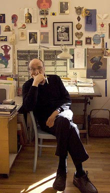Milton Glaser in his studio