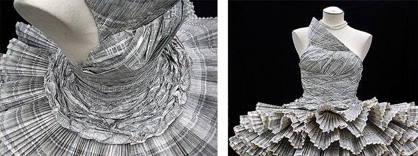 Jolis Paons' Paper Dress